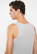 Jockey - 2 Pack eyelet vest - grey & black