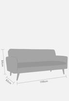 Sixth Floor - Finn sleeper couch - dark grey