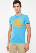 Superdry. - Heritage classic tee - blue