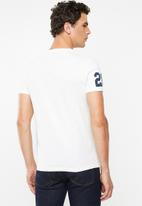 Superdry. - Shirt shop duo mid tee - white