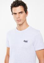 Superdry. - Orange label vintage embroidery tee - navy & white