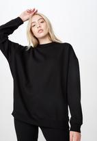 Factorie - Oversized crew neck sweater - black