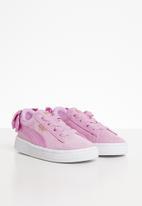 PUMA - Baby girls suede bow ac - pink