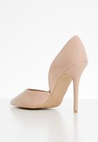 Sissy Boy - Akita cut away stiletto court - neutral