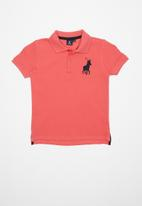 POLO - Boys Austin short sleeve golfer - pink