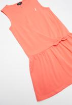 POLO - Girls pam sleeveless dress - coral