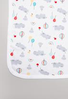 POP CANDY - Hippo & balloons receiving blanket - white