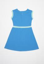 POLO - Girls Hailey short sleeve dress - blue