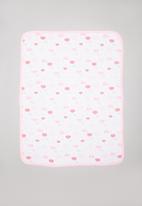 POP CANDY - Cloud print receiving blanket - pink & white