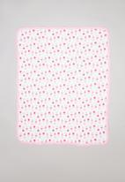 POP CANDY - Ice-cream print receiving blanket - pink & blue