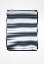 POP CANDY - Stripes receiving blanket - navy & grey