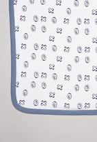 POP CANDY - X's & o's printed receiving blanket - white & navy