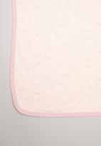 POP CANDY - Bunny print receiving blanket - pink