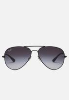 Ray-Ban - Ray-ban aviator sunglasses 58mm - black & grey