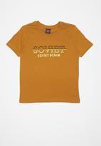 SOVIET - Boys logo tee - brown