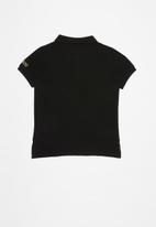 GUESS - Guess kids short sleeve core polo - black