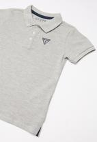 GUESS - Short sleeve Guess core polo - grey