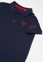 GUESS - Teen short sleeve Guess core polo - navy