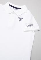 GUESS - Short sleeve Guess core polo - white