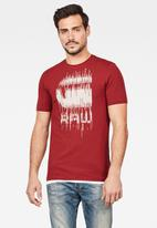 G-Star RAW - Graphic 6 slim short sleeve T-shirt - red