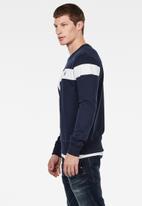 G-Star RAW - Graphic 13 long sleeve sweatshirt - navy