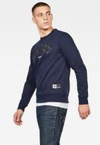 G-Star RAW - Graphic 12 slim long sleeve sweatshirt - navy
