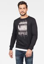 G-Star RAW - Graphic 8 long sleeve sweats - black