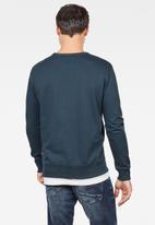 G-Star RAW - Graphic 8 long sleeve sweats - blue