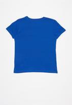 GUESS - Teens short sleeve Guess triangle tee - blue