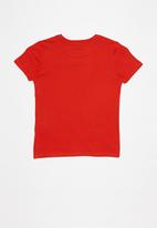 GUESS - Teens short sleeve guess triangle tee - red