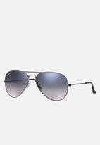 Ray-Ban - Aviator large metal sunglasses 55mm - gunmetal