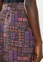Superbalist - Printed soft paperbag shorts - multi