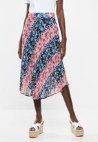 Superbalist - Printed pleated skirt - multi