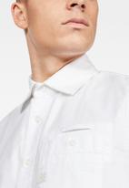 G-Star RAW - Brimstum 1 pocket slim shirts  - white