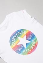Converse - Converse girls foil tee - white
