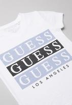 GUESS - Teens short sleeve Guess 3 step tee - white