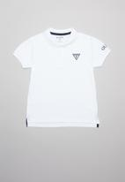GUESS - Guess teens short sleeve core polo tee - white