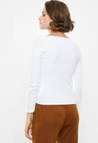 Superbalist - Stretch rib drawcord tee - white