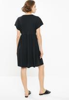 Superbalist - Knit babydoll dress - black