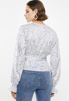 Superbalist - Printed wrap blouse - multi