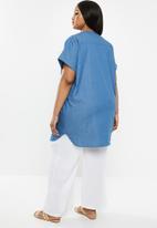 edit Plus - Hanley collar tunic - blue