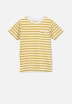 Cotton On - Core short sleeve tee - yellow & white