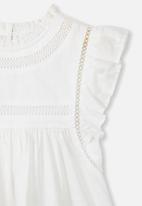 Cotton On - Lou high neck top - white