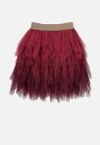 Cotton On - Tori tulle skirt - burgundy