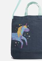 Cotton On - Printed tote bag - navy