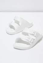 Cotton On - Twin strap slide - white