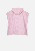 Cotton On - Kids hooded towel - pink