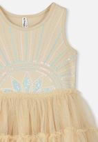 Cotton On - Iris tulle dress - gold