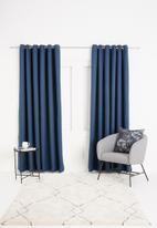 Sixth Floor - Self lined eyelet curtain - navy