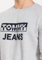 Tommy Hilfiger - Tommy jeans split block logo crew - grey